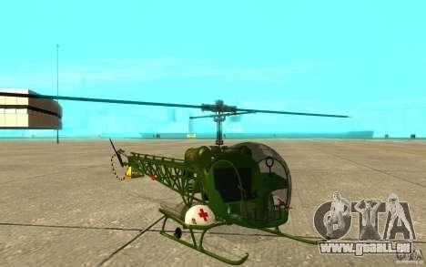 Bell H13 pour GTA San Andreas laissé vue