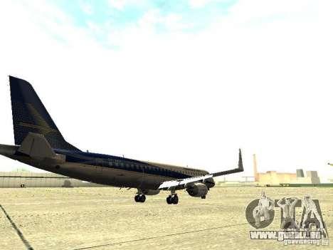 Embraer E-190 pour GTA San Andreas vue de droite