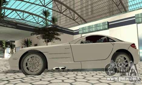 Mercedes-Benz McLaren V2.3 pour GTA San Andreas vue de droite