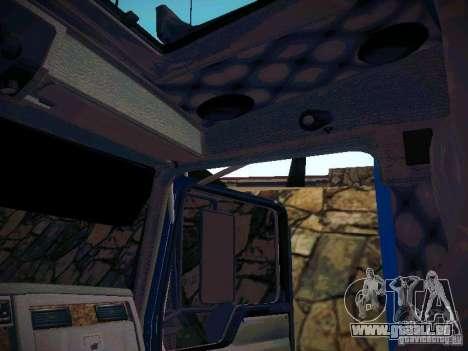 Kenworth W900 pour GTA San Andreas vue intérieure