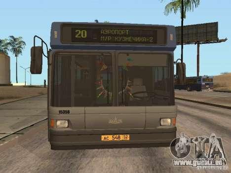MAZ 103 pour GTA San Andreas laissé vue