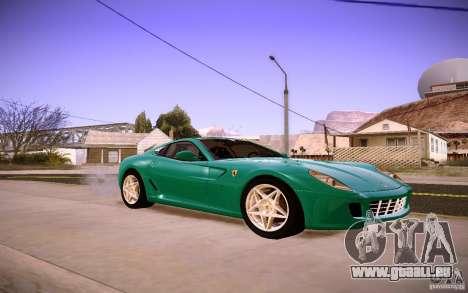 Ferrari 599 GTB Fiorano 2010 pour GTA San Andreas laissé vue