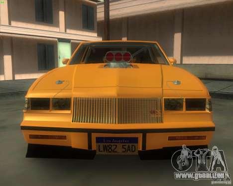 Buick GNX pro stock für GTA San Andreas rechten Ansicht