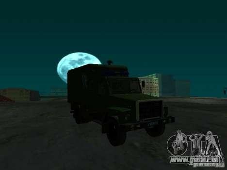 GAZ 3309 Paddy wagon für GTA San Andreas Rückansicht