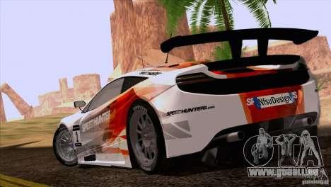 McLaren MP4-12C Speedhunters Edition pour GTA San Andreas laissé vue