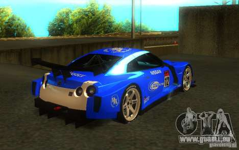 Nissan Skyline R35 GTR pour GTA San Andreas laissé vue