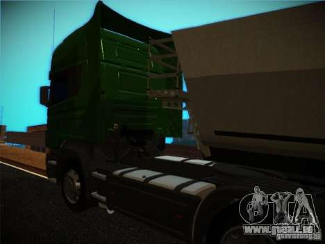 Scania R580 pour GTA San Andreas sur la vue arrière gauche