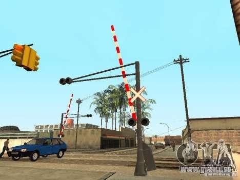 PASSAGE à niveau RUS pour GTA San Andreas troisième écran