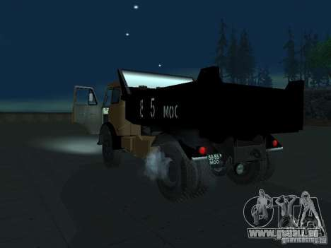 Camion à benne MAZ 503 a pour GTA San Andreas laissé vue