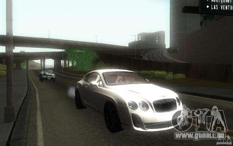 Bentley Continental SS pour GTA San Andreas vue arrière