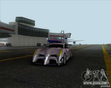 Panoz Abruzzi Le Mans V1.0 2011 für GTA San Andreas zurück linke Ansicht
