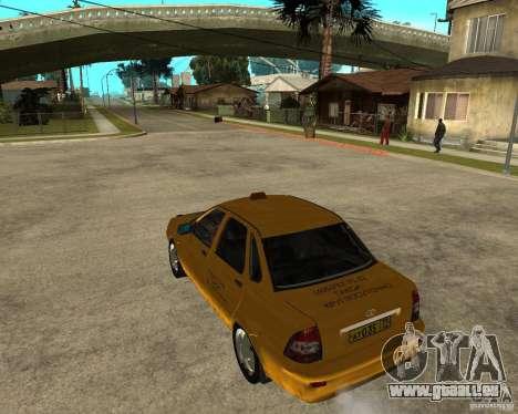 LADA 2170 « priora » Taxi pour GTA San Andreas laissé vue