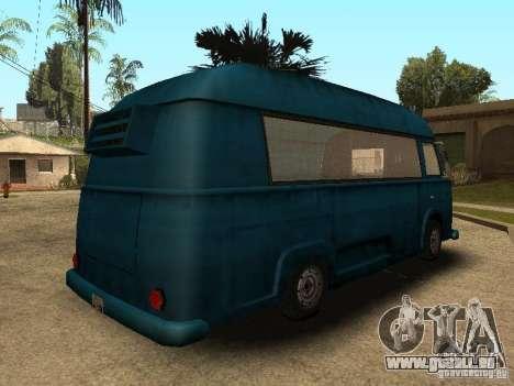 Zivile Hotdog-Van für GTA San Andreas zurück linke Ansicht