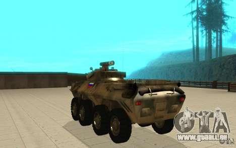 BTR-90 pour GTA San Andreas sur la vue arrière gauche