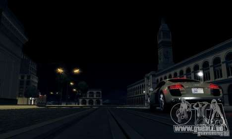 Audi R8 5.2 FSI Quattro pour GTA San Andreas sur la vue arrière gauche