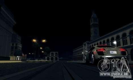 Audi R8 5.2 FSI Quattro für GTA San Andreas zurück linke Ansicht