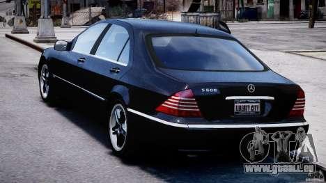 Mercedes-Benz W220 für GTA 4 hinten links Ansicht