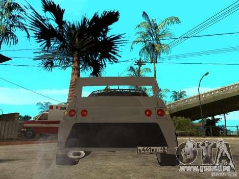 VAZ 2110 WRC 2.0 für GTA San Andreas zurück linke Ansicht
