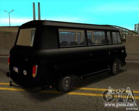 1961-1991 Barkas B1000 pour GTA San Andreas vue intérieure