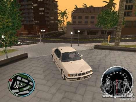 BMW E34 540i pour GTA San Andreas vue de droite