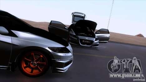 Honda CR-Z Mugen 2011 V1.0 pour GTA San Andreas vue de dessus