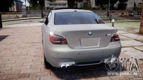 BMW M5 E60 2009 für GTA 4 hinten links Ansicht