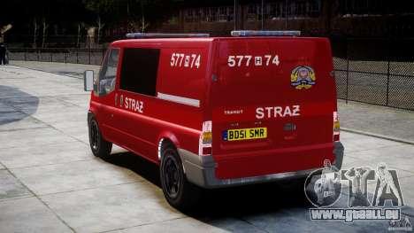 Ford Transit Polish Firetruck [ELS] für GTA 4 hinten links Ansicht