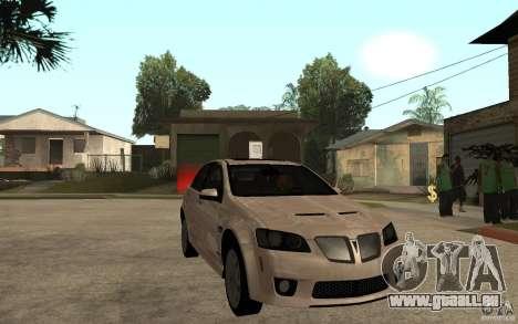 Pontiac G8 GXP 2009 für GTA San Andreas Rückansicht
