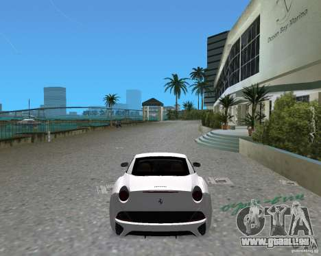 Ferrari California pour une vue GTA Vice City de la gauche