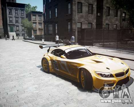 BMW Z4 GT3 2010 pour GTA 4 est un droit