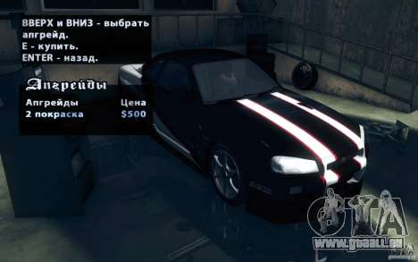 Nissan Skyline GTR R34 VSpecII für GTA San Andreas Seitenansicht