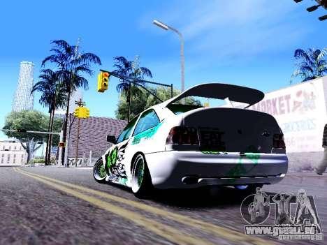 Ford Escort RS 92 Hella pour GTA San Andreas sur la vue arrière gauche