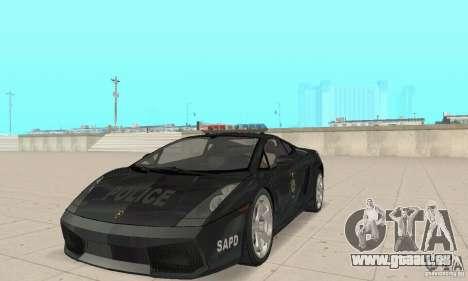 Lamborghini Gallardo Police für GTA San Andreas