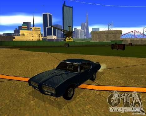 Pontiac GTO 1969 pour GTA San Andreas vue intérieure