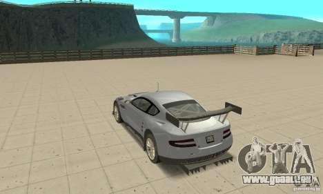 Aston Martin DBR9 (v1.0.0) pour GTA San Andreas sur la vue arrière gauche