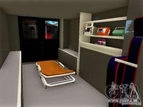 Ford E-350 Ambulance v2.0 pour GTA San Andreas vue de droite