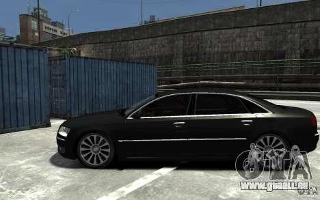 Audi A8L W12 Quattro pour GTA 4 est une gauche