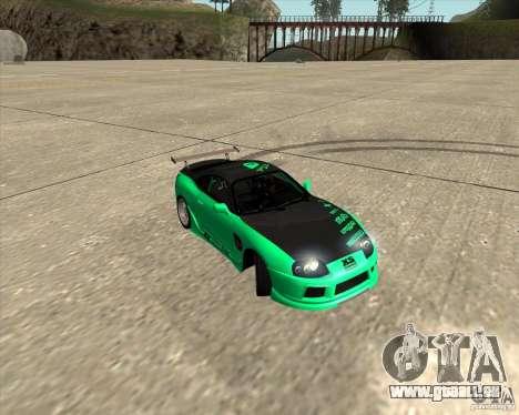 Toyota Supra ZIP style pour GTA San Andreas vue de dessous