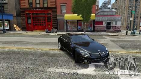 Mercedes-Benz CL65 AMG v1.5 pour GTA 4 Vue arrière de la gauche