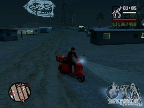 Trollface Moon pour GTA San Andreas troisième écran