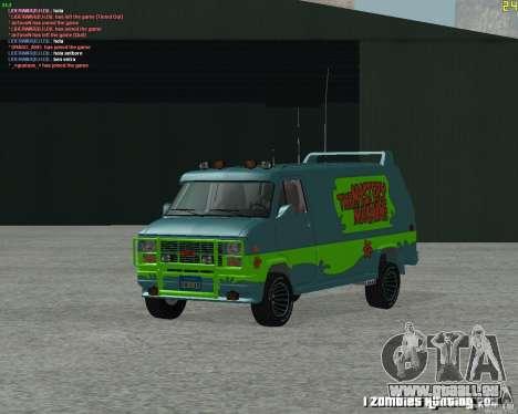 GMC Van 1983 pour GTA San Andreas laissé vue