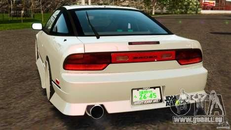 Nissan 240SX facelift Silvia S15 [RIV] pour GTA 4 Vue arrière de la gauche