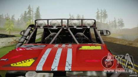 Buggy Off Road 4X4 pour GTA San Andreas sur la vue arrière gauche