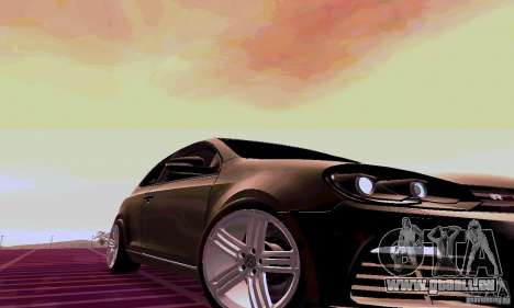 Volkswagen Golf GTI 2011 pour GTA San Andreas vue de droite