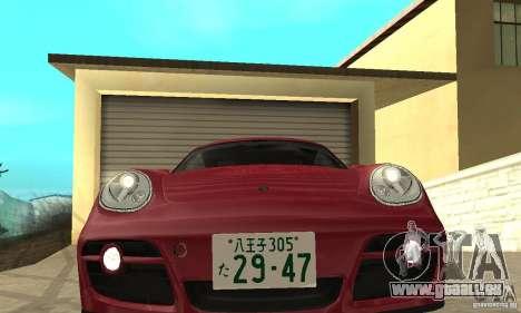 Porsche Cayman S für GTA San Andreas Rückansicht