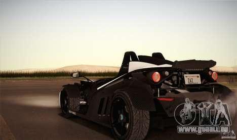 KTM-X-Bow für GTA San Andreas obere Ansicht