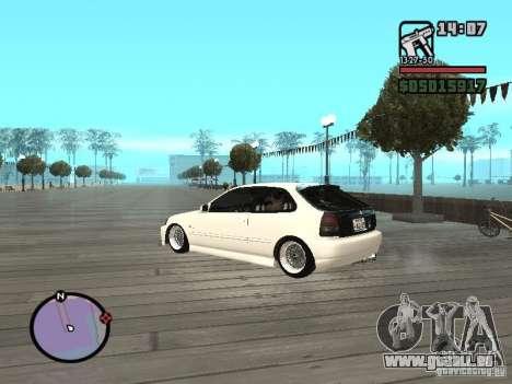 Honda Civic EK9 JDM für GTA San Andreas linke Ansicht