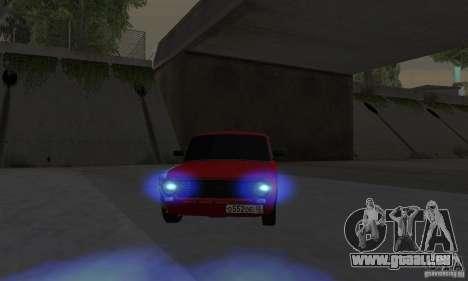 VAZ 2101 restylage pour GTA San Andreas sur la vue arrière gauche