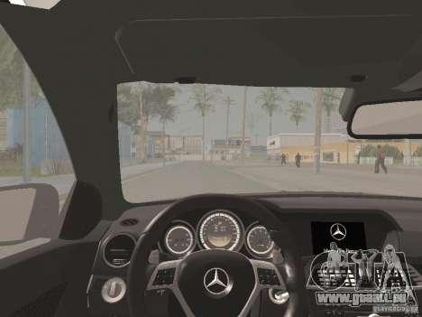 Mercedes-Benz C63 AMG Coupe Black Series pour GTA San Andreas vue de dessus