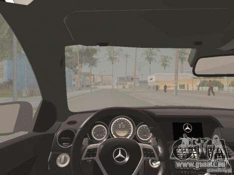 Mercedes-Benz C63 AMG Coupe Black Series für GTA San Andreas obere Ansicht